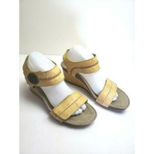 Aetrex Arielle Wedge Sandal Leather Quarter Strap